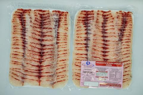 Sashimi de Tilápia Vácuo 250g Caixa 48 Unidades 12kg